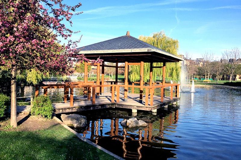 Parque Yamaguchi en Pamplona (FOTOGRAFÍA: LUELIR).