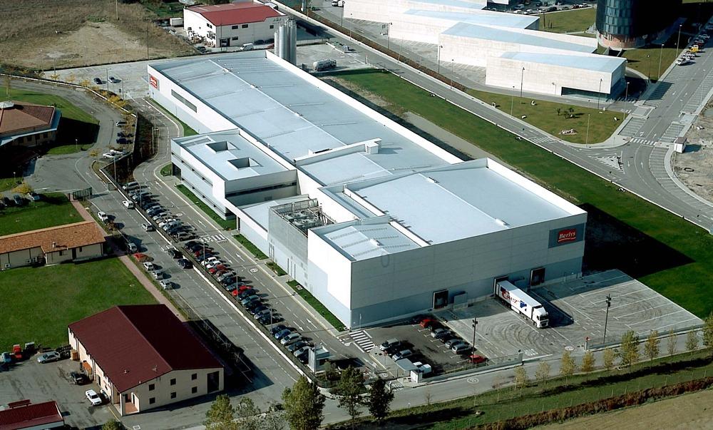Imagen aérea de la sede de Berlys en Tajonar.