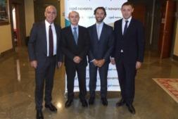 Jesús Pejenaute, Oscar Martínez, Marcos Ríos y José Miguel Ancín, en las instalaciones de la CEN.