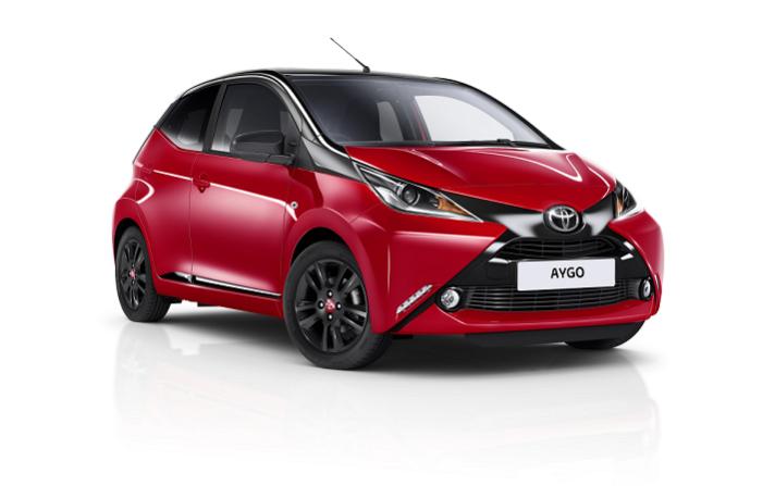 Imagen promocional del nuevo Toyota AYGO x-cite.