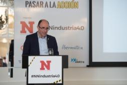 Manu Ayerdi, durante las Jornadas Industria 4.0 en el Hotel Tres Reyes. Pamplona.