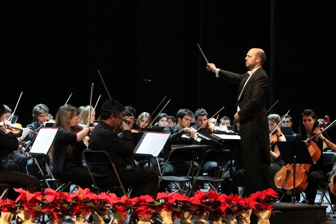 Borja Quintas, nuevo director de la Joven Orquesta Sinfónica Universidad de Navarra.
