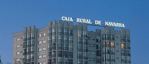 Imagen de la sede central de Caja Rural de Navarra en Pamplona.