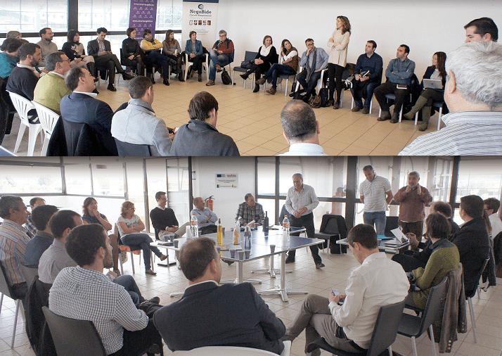 Foto montaje en el que se muestran las últimas actividades de formación y networking de la Asociación 'Cascantum'.