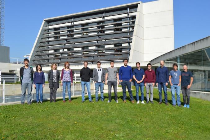 Los alumnos y tutores de la Cátedra de Renovables de la UPNA en CENER.