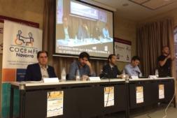 Mesa de presentación con Abel Casado, Eneko Larrarte, Manuel Arellano y Javier Zubicoa.