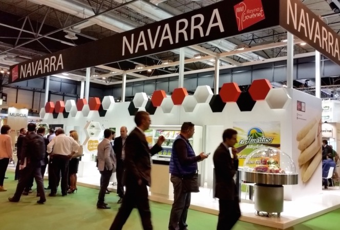 Stand de Navarra en la Feria Fruit Attraccion 2016.