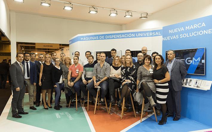 Foto de familia de los representantes de GM Global Solutions en la feria Vendiberica de Madrid.