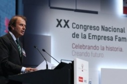 Ignacio Osborne, presidente de IEF, durante su discurso en el XX Congreso Nacional de Empresa Familiar.