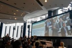 Imagen de una de las ponencias durante las jornadas en Bruselas.
