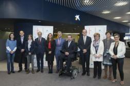 Ana Díez Fontana y Javier Miranda, junto a representantes de los centros de investigación que van a recibir esos 6,4 millones de euros. (FOTOS: Jesús Garzarón)