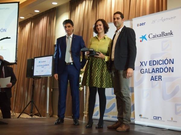 Imagen de los propietarios del Hotel Santamaria galardonados en 2016 con el premio 'Relevo Generacional'.
