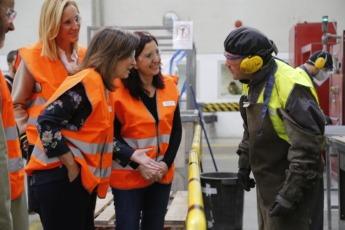 Cristina de Parias visitó la planta Ecointegra