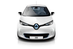 Imagen frontar de un ZOE, vehículo eléctrico de Renault.