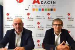 José Luis Herrera Zubeldía y Francisco Fernández Nistal, presidente y gerente de Adacen, respectivamente, durante la presentación de estas medidas.