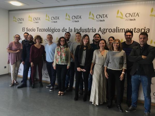 Representantes del CNTA, junto con las startups de Orizont.