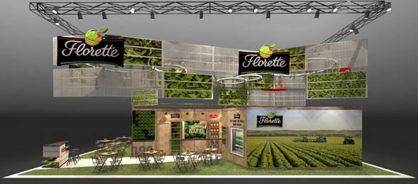 Recreación del pabellón de Florette en Fruit Attraction 2017