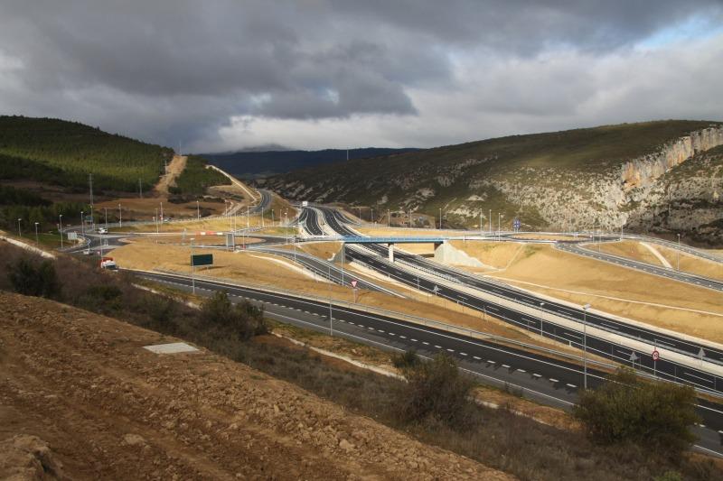 Un tramo de la Autovía del Pirineo (A-21).