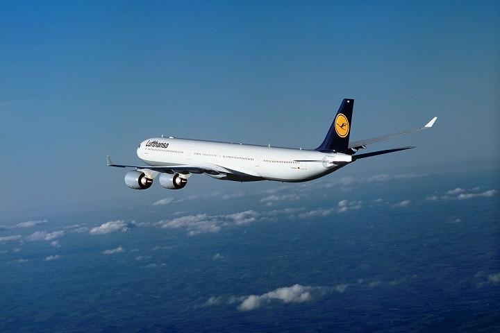 Imagen de uno de los aviones de Lufthansa que, desde mañana, enlazarán Navarra con Frankfurt.