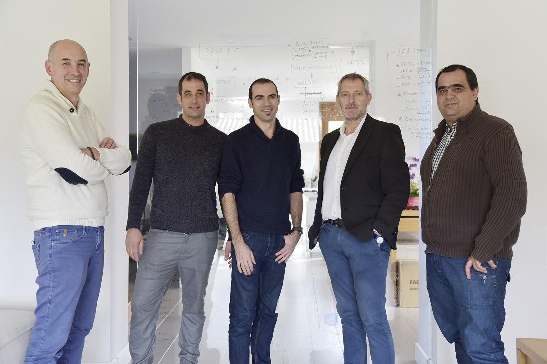 De Izda a Derecha Mikel Martínez, Patxi Alegría, Diego Unanua, Agustín Idareta, Juán Perú y (Ausente) David Calvo, promotores de IOGreenhouse.