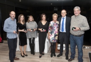 Fernando Legarra, Ana Beamonte, Ágatha Mesanza, Elena Catalán y Roberto Bandrés