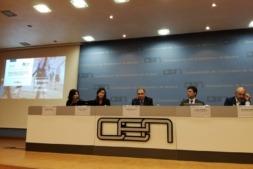 De I a D: Beatriz Martínez (responsable técnico del proyecto), Yolanda Esteban (Oniria Consulting), José Antonio Sarría (CEN), Javier Zubicoa (Gobierno de Navarra) y Fernando Botella (Think & Action).