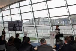 Un momento de la presentación del Plan Estratégico del Puerto de Bilbao. (FOTO: Paloma Arias).