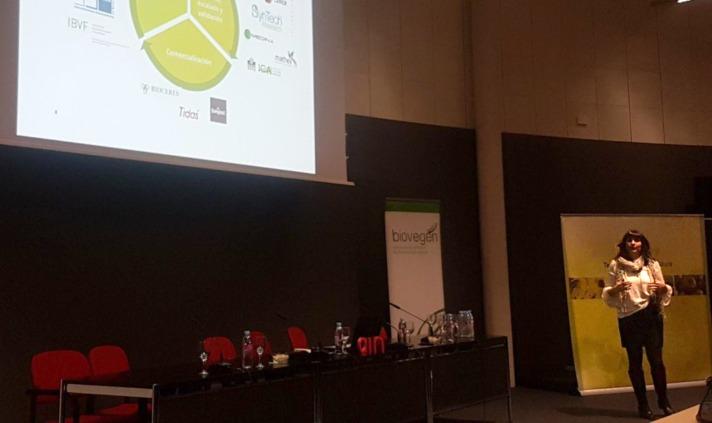 Susana Grocin, de Iden Biotechnology, durante su intervención.