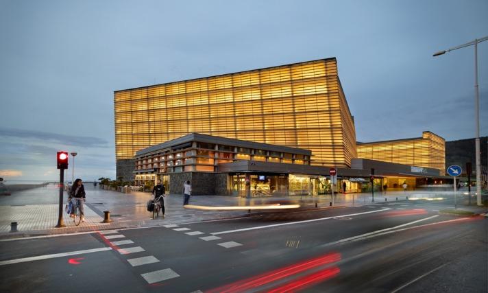 Imagen exterior del Kursaal donostiarra, sede el 28 de noviembre de la II edición de 'eustartup'.