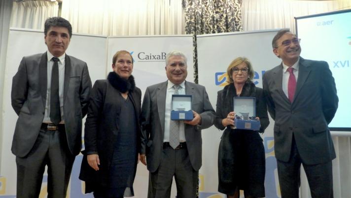 Foto de familia de los ganadores de los premios AER del año pasado. (FOTO: Germán Pérez).