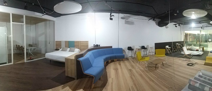 Vista del showroom de Habic en México.