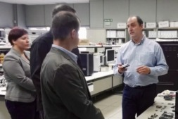 Representantes de Pannon y Am-Lab durante su visita en las instalaciones de Cemitec.