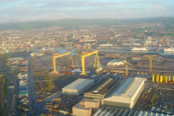Vista aérea de Belfast.