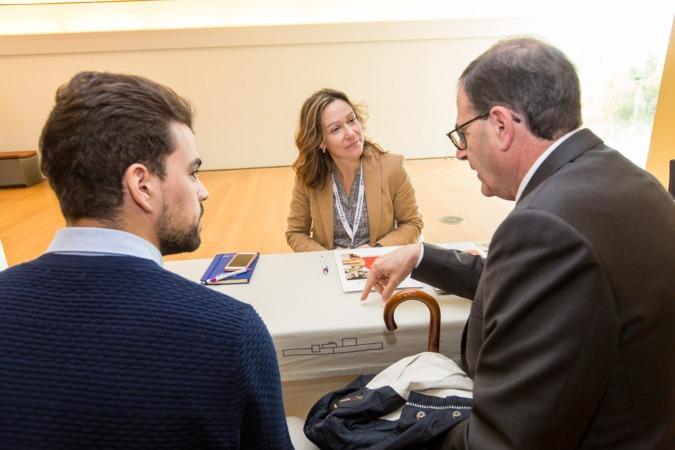 Imagen de uno de los franquiciados participantes en el encuentro EmprendeFranquicia celebrado recientemente en Navarra. (FOTO: Víctor Rodrígo).