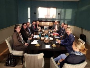 reunión mantenida entre Gobierno de Navarra y Sodena con representantes de Lufthansa y del aeropuerto de Fráncfort