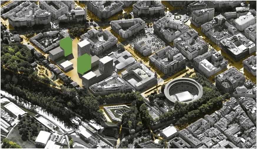 Vista aérea de la zona en la que trabajarán ACR Grupo y Allegra.