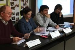Imagen de la Junta Directiva de la Asociación de Empresarios de la Zona Media de Navarra, AEZMNA (archivo).
