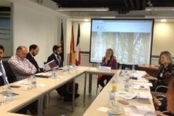 La directora general, Izaskun Goñi, en un momento de la presentación del Campus de Lekaroz.