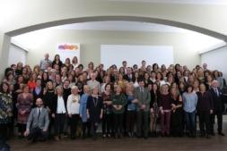 Foto de Familia de los miembros de Liceo Monjardín en el X Aniversario de su transformación en Cooperativa.
