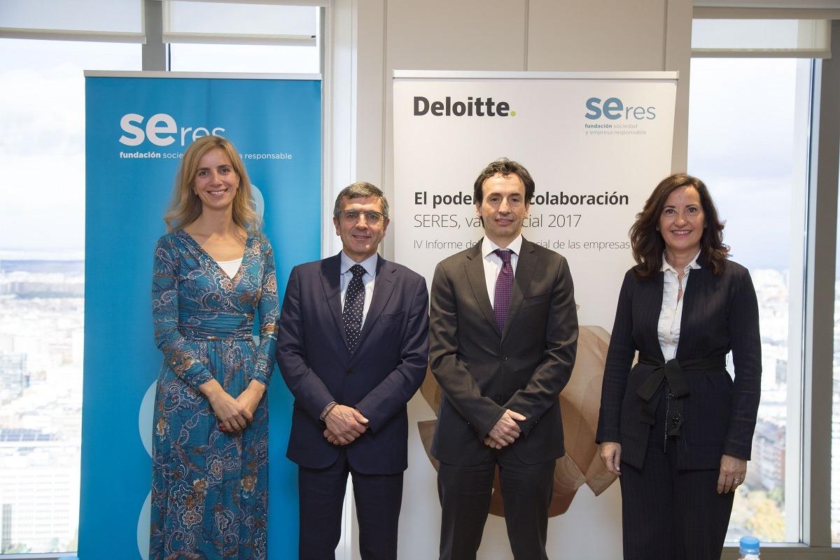 De I a D: Lucila García, Fundación SERES; Francisco Román, Fundación SERES, Javier Parada, Deloitte, y Ana Andueza, Deloitte.