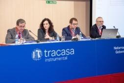 Javier Lopez (UPNA), Paloma Grau (CEIT), Guillermo Berlanga (FACSA), y Manuel Gómez (UPC)