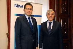 Miguel Cardoso, economista jefe para España de BBVA Research, y Carlos Gorria, director Territorial Norte de BBVA