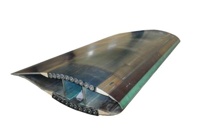 Detalle del desarrollo con el que Nabrawind acude a la Wind Turbine Blade Manufacture de Dusseldorf.