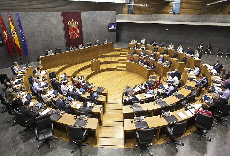 Vista del Pleno del Parlamento de Navarra.