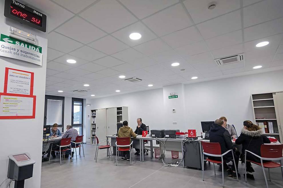 Imagen de una de las oficinas del Servicio Navarro de Empleo.