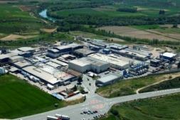 Vista aérea del centro de producción de Viscofan en Cáseda.