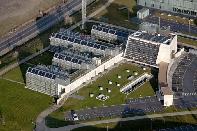 Vista aérea de la sede de CENER en Sarriguren.