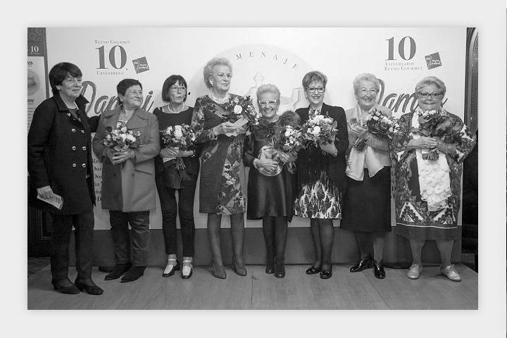 Las 'Damas de la gastronomía navarra' homenajeadas por Reyno Gourmet.