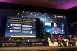 Un momento de la intervención del gerente de Nasuvinsa, José María Aierdi, durante el reciente congreso 'The Summit'