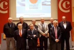 Arriba Joaquín Salanueva, Javier Asirón, José Manuel Ayesa, Javier Taberna, Miguel Ángel Ancízar, Pedro Gil. Abajo: Pachi Esparza, Javier Martirena y Juan Mari Zuza.